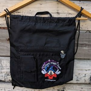 Walt Disney World Black Drawstring Backpack